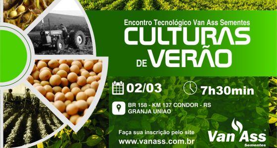 Van Ass promove Encontro Tecnológico: culturas de verão