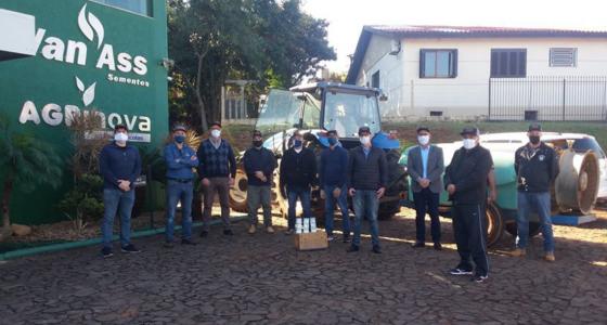 Van Ass Sementes doa Hipoclorito de Cálcio para os municípios de Panambi e Condor